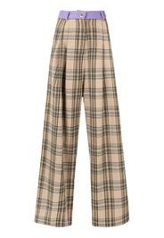 Pantaloni con pannelli a contrasto