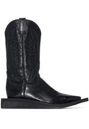 Natasha Zinko extended sole cowboy boots - Nero