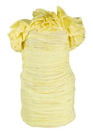 Emanuelle pleated ruffle mini dress