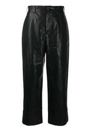 Pantaloni a gamba ampia crop