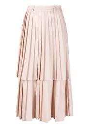 Neul tiered-pleat midi skirt - Rosa