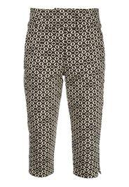 Pantaloni crop con stampa geometrica