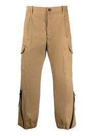Nine In The Morning cropped invert-pleat trousers - Toni neutri