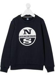 long sleeve logo print jumper