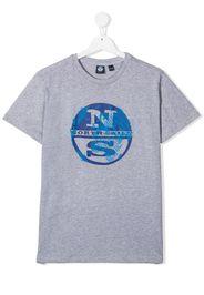 North Sails Kids T-shirt con stampa - Grigio