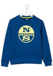 North Sails Kids Felpa con stampa - Blu