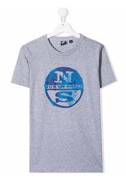 North Sails Kids T-shirt con stampa grafica - Grigio
