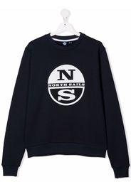 North Sails Kids TEEN logo-print sweatshirt - Blu