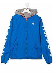 North Sails Kids TEEN hooded logo-print windbreaker jacket - Blu