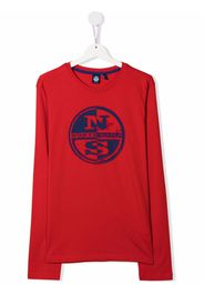 North Sails Kids logo-print T-shirt - Rosso