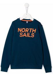 North Sails Kids logo-print sweatshirt - Blu