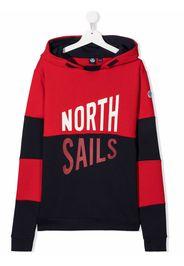 North Sails Kids Felpa con stampa - Rosso