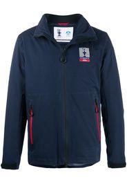 zipped logo track jacket