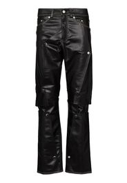 Aventura layered panel leather trousers