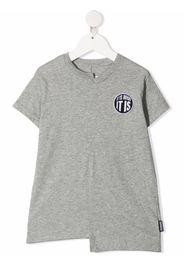 Nununu slogan-patch cotton T-shirt - Grigio