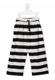 Nununu stripe-print drawstring-waist trousers - Nero
