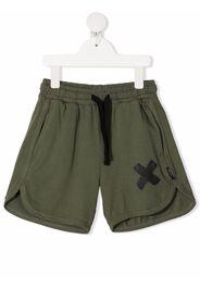 Nununu cross-print track shorts - Verde