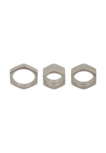 Set di 3 anelli Hex Nut