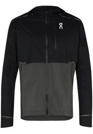 black weather micro ripstop hooded jacket
