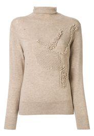 textured knit roll neck jumper