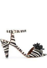 Sandali Mae con motivo zebrato