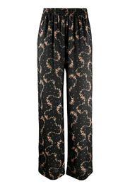 Pantaloni a fiori elasticizzati