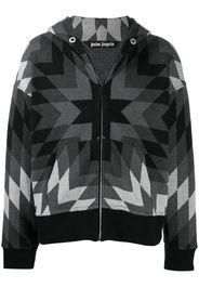 geometric-patterned hoodie