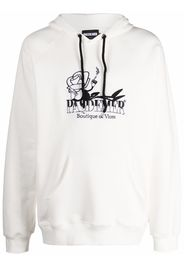 PAS DE MER logo print hoodie - Bianco