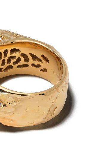 Anello Boldi Tushroom in oro giallo 18kt con diamanti