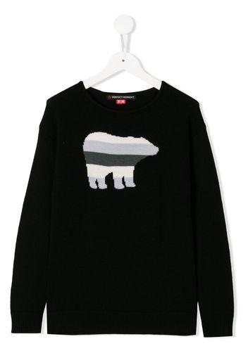 Maglione con orso a righe