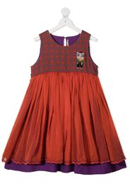 embroidered pig tiered dress