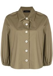 Piazza Sempione puff-sleeve cropped shirt - Toni neutri