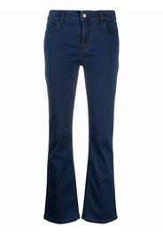 Piazza Sempione flared-cuff denim trousers - Blu
