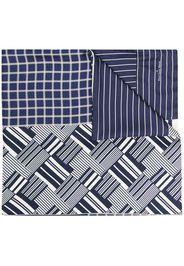 Pierre-Louis Mascia Sciarpa con bordi a contrasto - Blu
