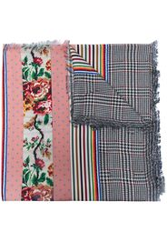Pierre-Louis Mascia multi-pattern panelled silk scarf - Rosa