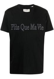 Plùs Que Ma Vìe T-shirt con ricamo - Nero