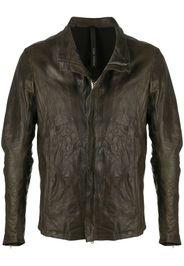 high-neck front-zip jacket