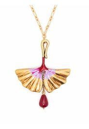 Ports 1961 fan-motif short necklace - Oro