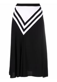 Ports 1961 intarsia-knit skirt - Nero