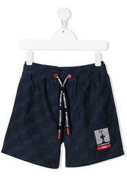 Prada Linea Rossa logo drawstring swim shorts - C002 BLU