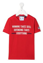 Prada Linea Rossa slogan print crew-neck T-shirt - Rosso