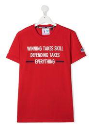 Prada Linea Rossa TEEN slogan print T-shirt - Rosso