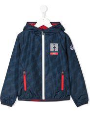 Prada Linea Rossa wave-print hooded jacket - Blu