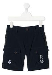 Prada Linea Rossa logo-print cargo shorts - Blu