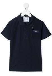 Prada Linea Rossa logo-patch polo shirt - Blu