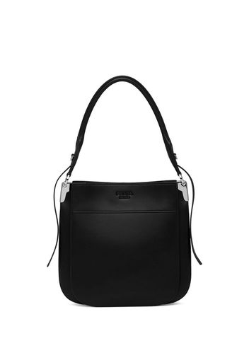Margit embossed logo shoulder bag