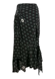 Arya wiccan star print skirt