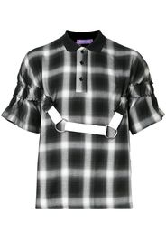 plaid polo with harness