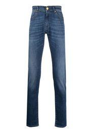 Pt05 Jeans dritti con vita media - Blu