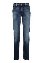 Pt05 Jeans con effetto schiarito - Blu